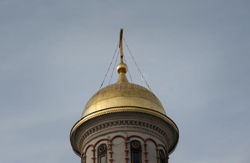 Крупный план Golden Dome стоковое фото rf