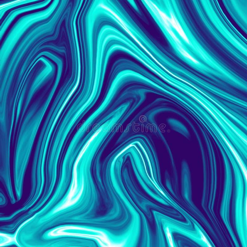 Крутая темно-синая хроматичная жидкостная мраморная иллюстрация бесплатная иллюстрация
