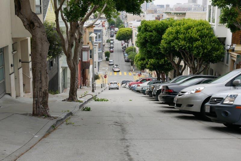 Крутая улица стоковое изображение rf