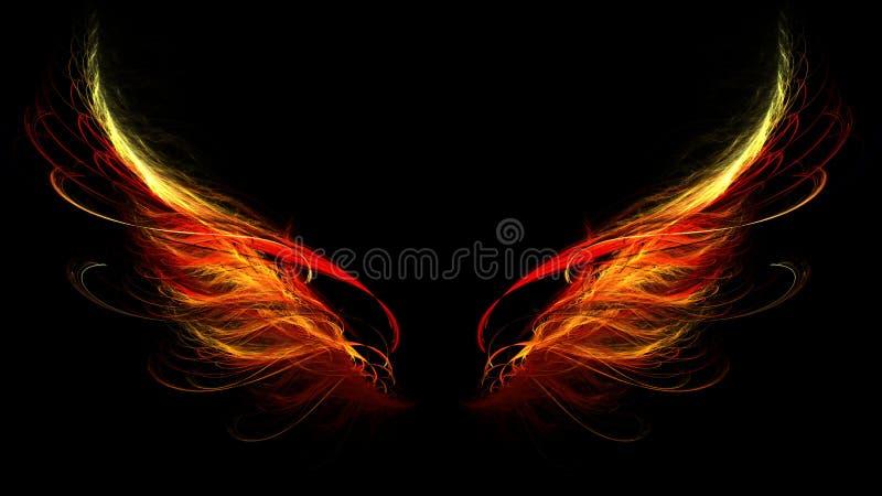 крыла ада иллюстрация вектора