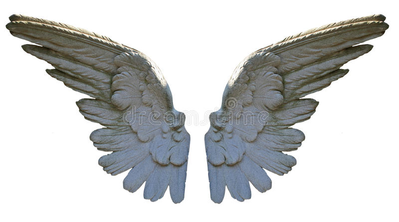 крыла ангела каменные стоковые изображения