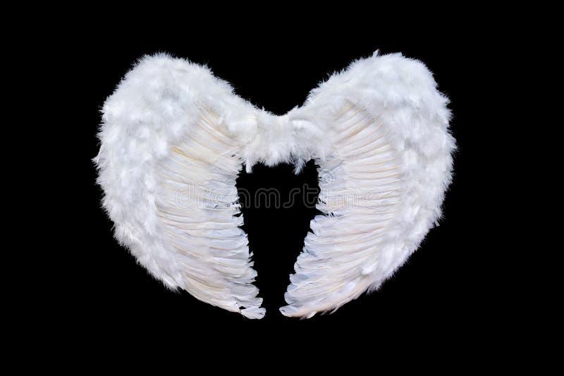 крыла белизны ангела стоковое изображение