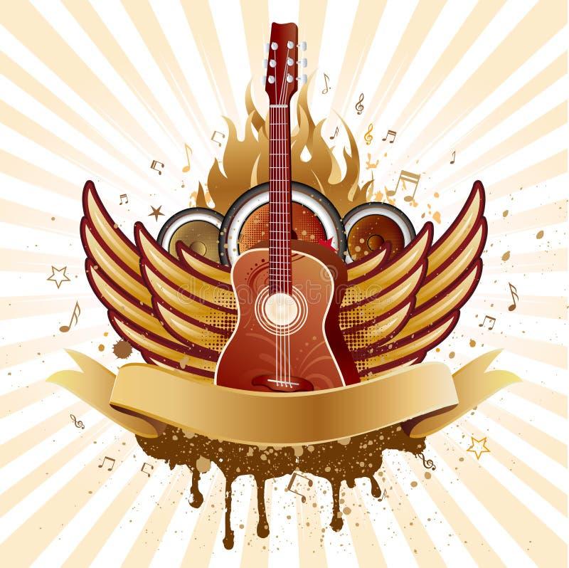 крыла гитары бесплатная иллюстрация