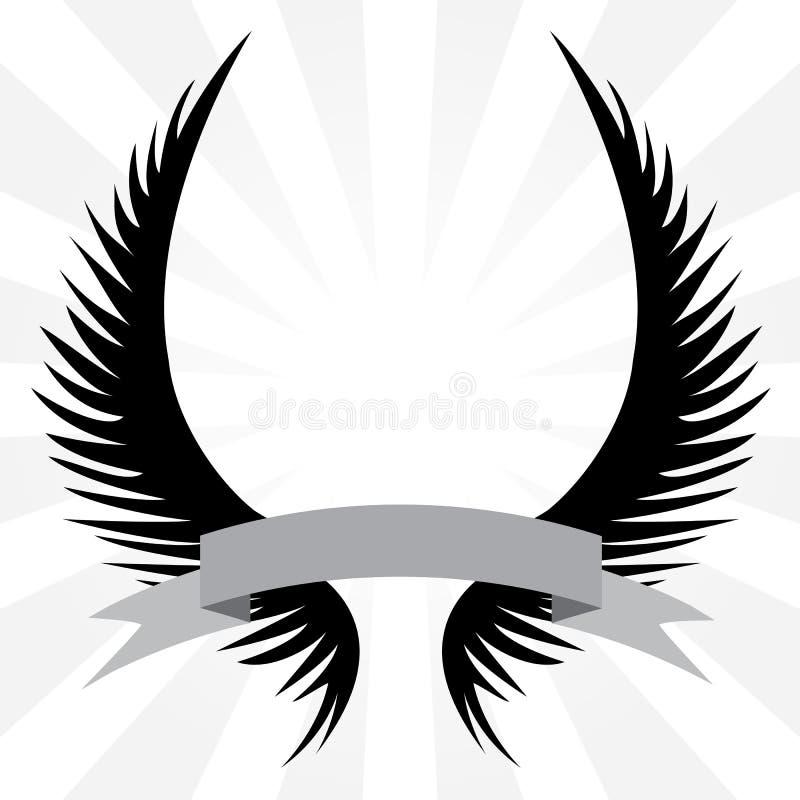 крыла гребеня готские иллюстрация вектора
