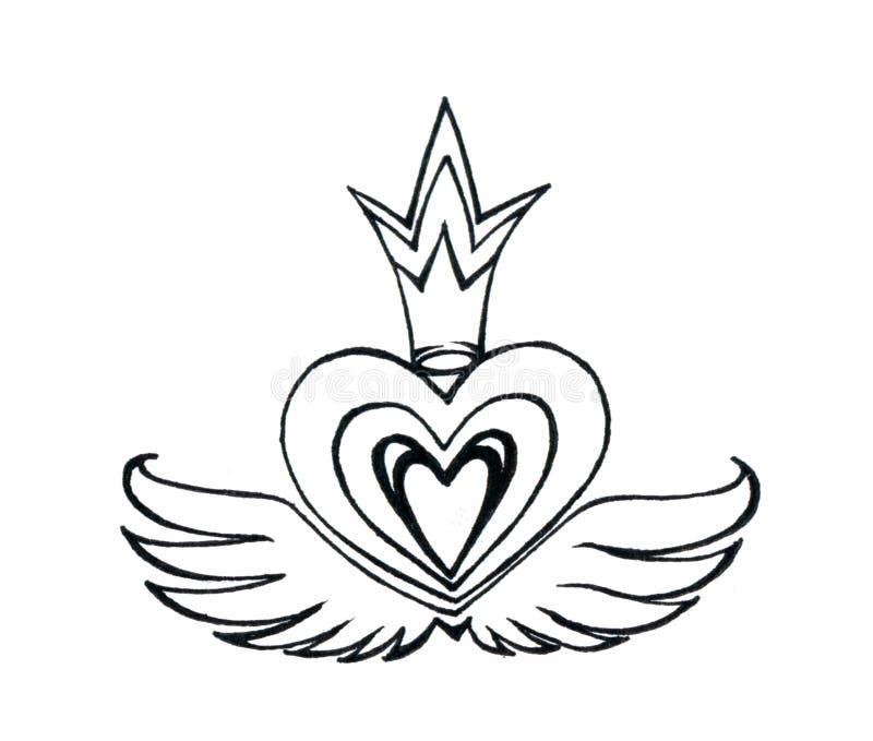 крыла короля сердца бесплатная иллюстрация