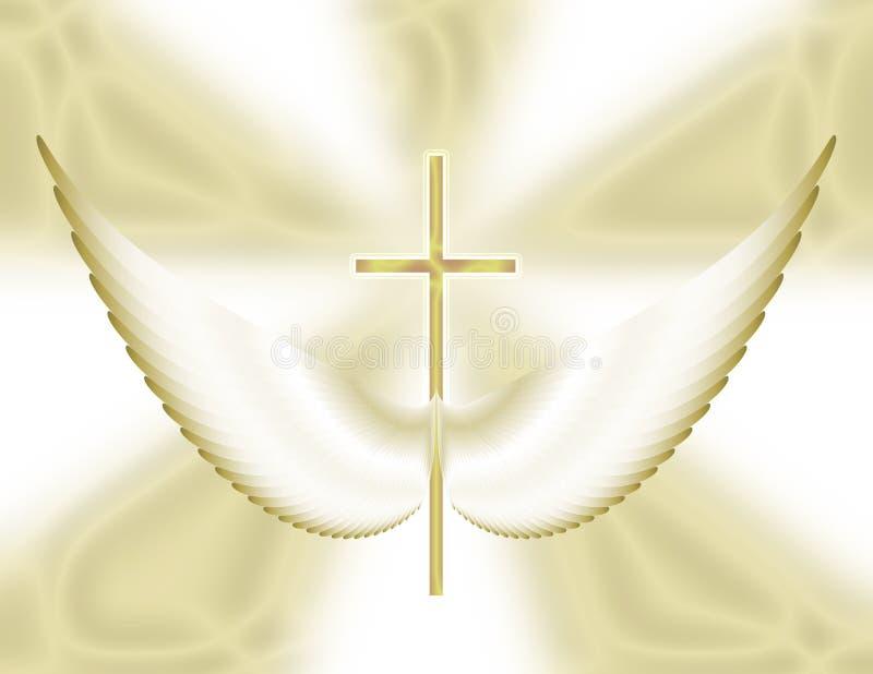 крыла молитве иллюстрация вектора