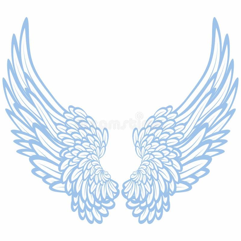 крыла пар иллюстрация вектора