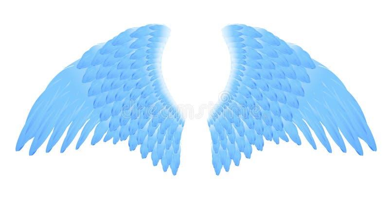 крыла сини ангела иллюстрация вектора