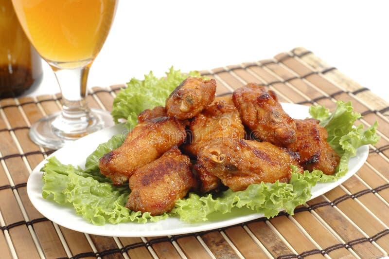 крыла цыпленка барбекю стоковое изображение