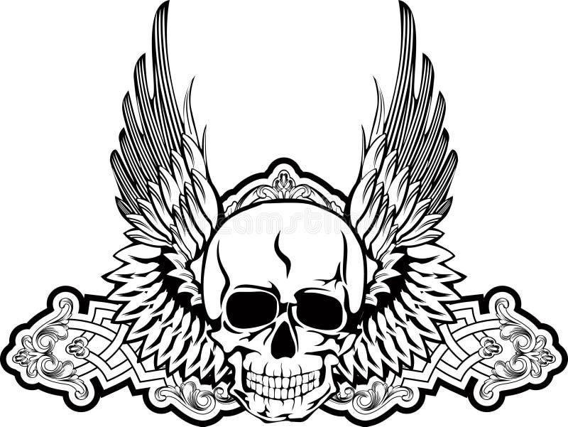 крыла черепа иллюстрация штока
