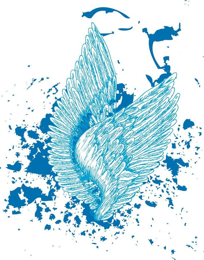крыла иллюстрация вектора