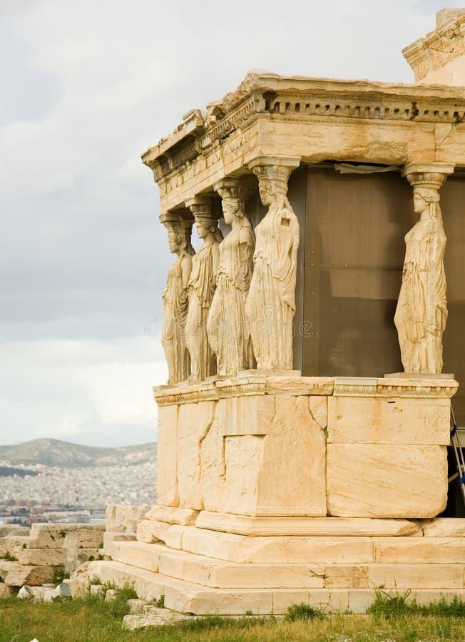 крылечко erechtheum caryatid akropolis стоковые фото