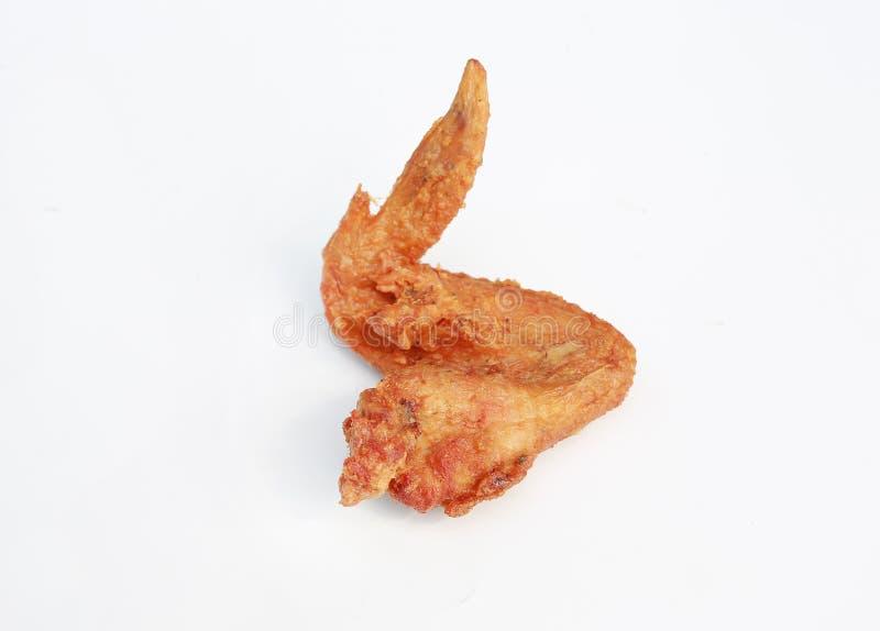 Крыло жареной курицы изолированное на белой предпосылке стоковое фото