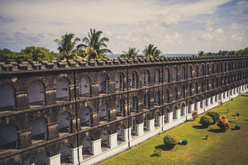 Крыло клетчатой тюрьмы на Port Blair стоковая фотография rf