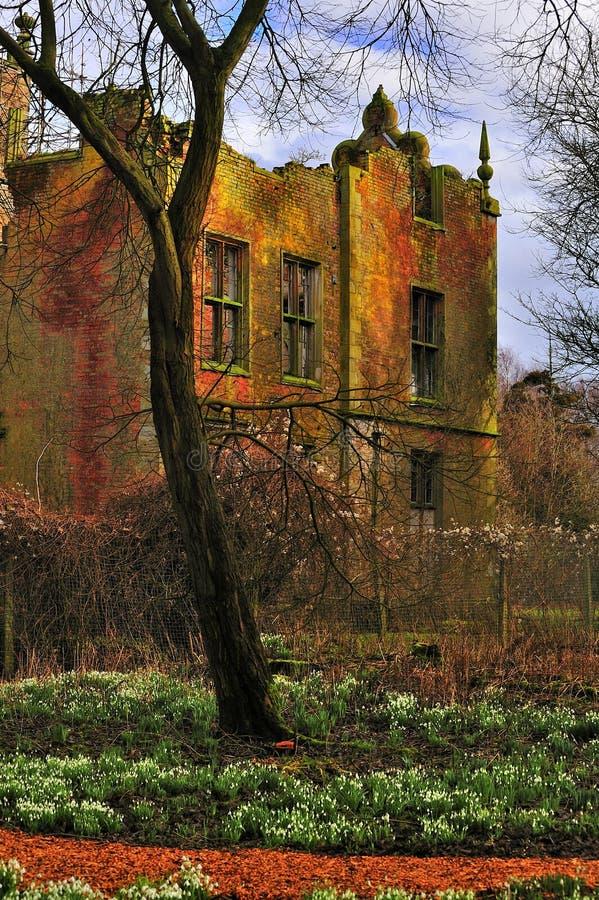 крыло руины lancashire залы bretherton банка западное стоковое фото