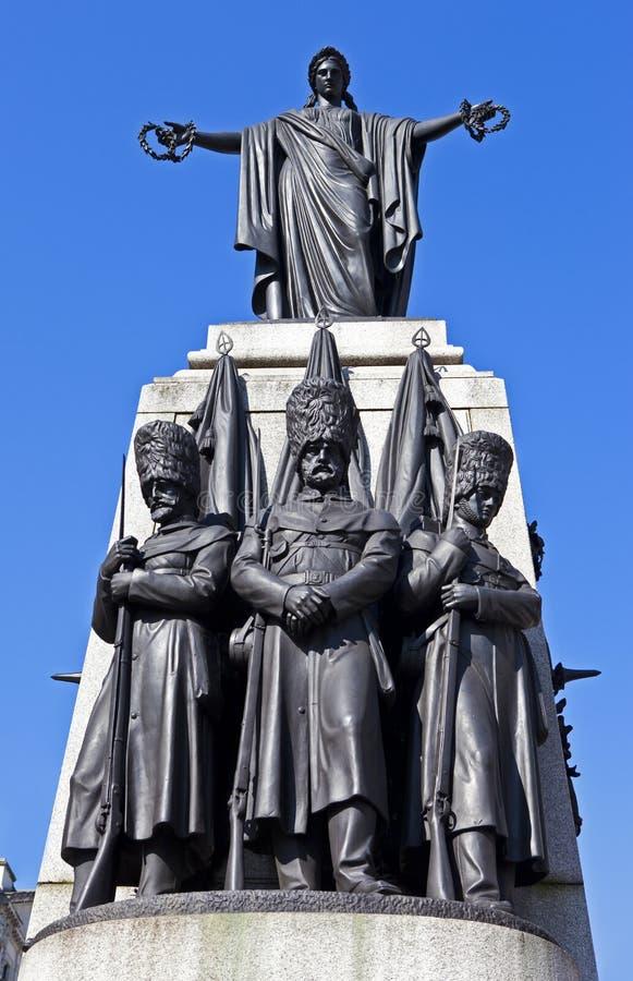 Крымский военный мемориал в Лондоне стоковое изображение rf