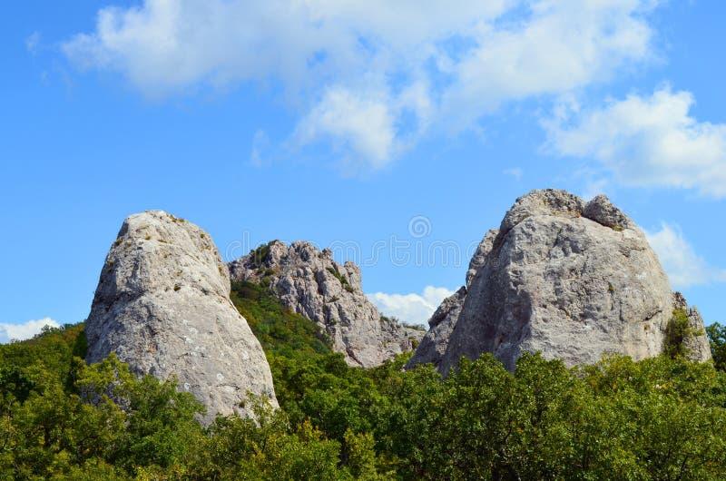 Крым, висок Солнця на горе Ilyas Kaya, около залива Laspi стоковые изображения rf