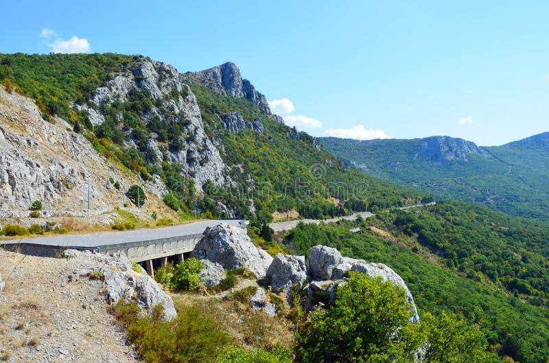 Крым, дорога Севастополь - Ялта стоковое изображение