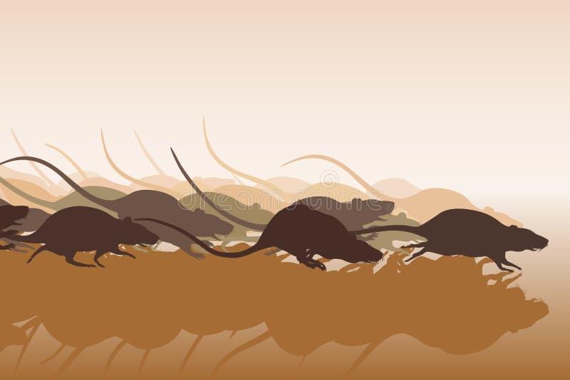 Крысиная гонка иллюстрация вектора