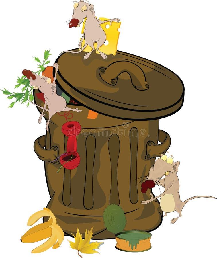 крысы отброса шаржа банка иллюстрация штока