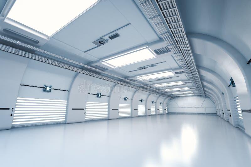 Крытая пустая фабрика стоковое изображение rf