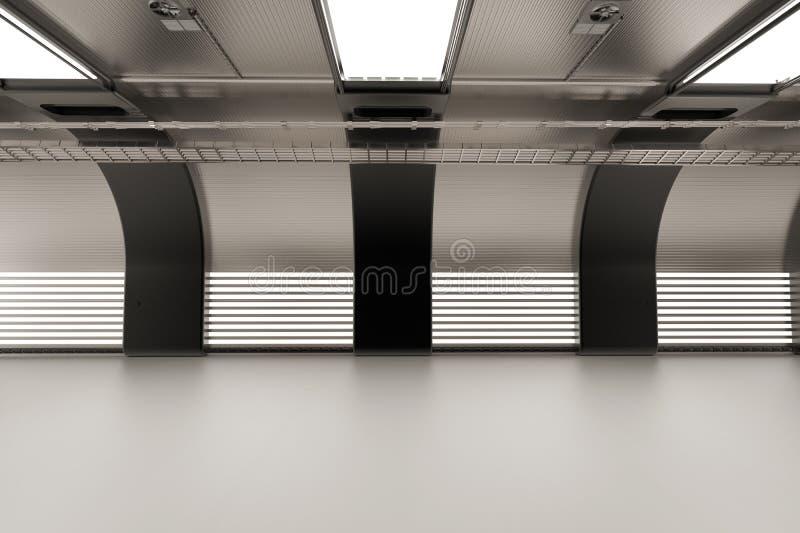 Крытая пустая фабрика иллюстрация штока
