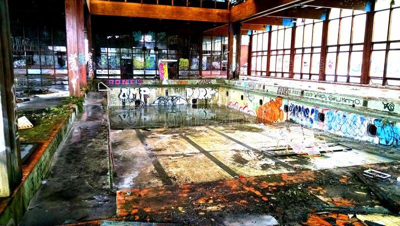 Крытый бассейн Grossingers стоковое изображение