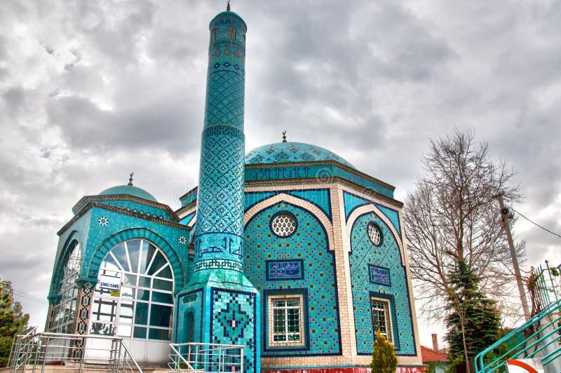 Крыть черепицей черепицей мечеть в Kutahya, Турции стоковое изображение