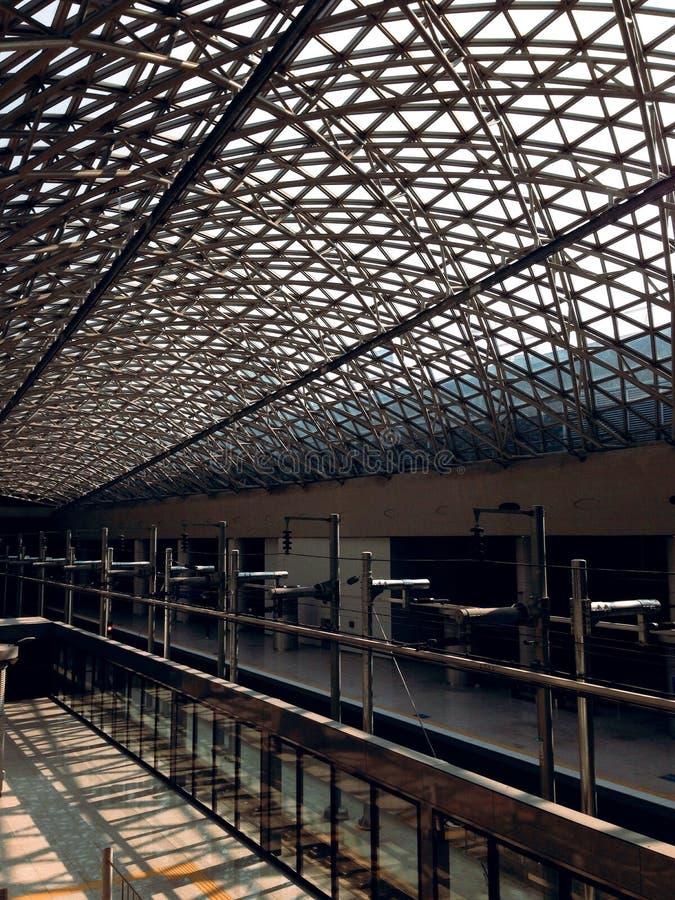 крыша авиапорта стоковые фото
