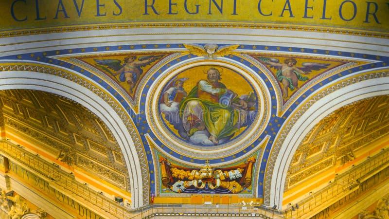 Download Крыша базилики St Peters на государстве Ватикан в Риме Редакционное Фото - изображение насчитывающей прописно, европа: 81807326