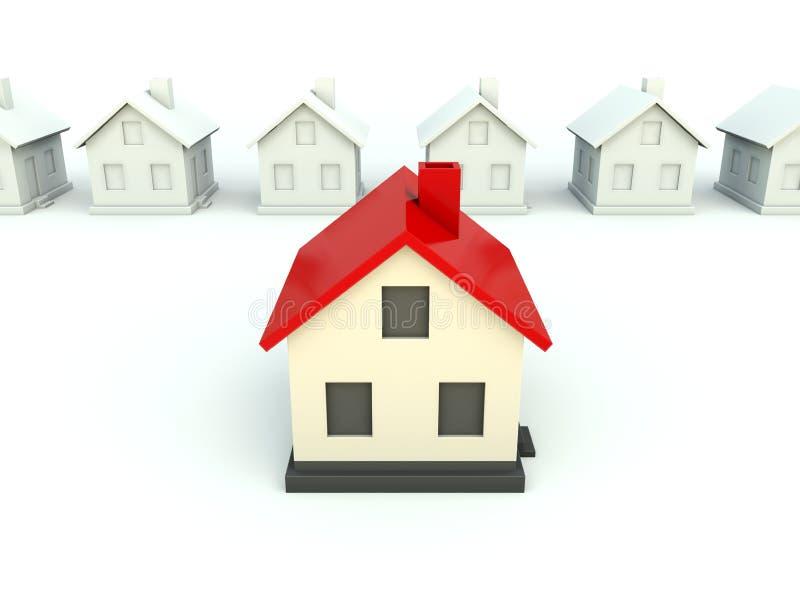 крыша красного цвета дома иллюстрация вектора