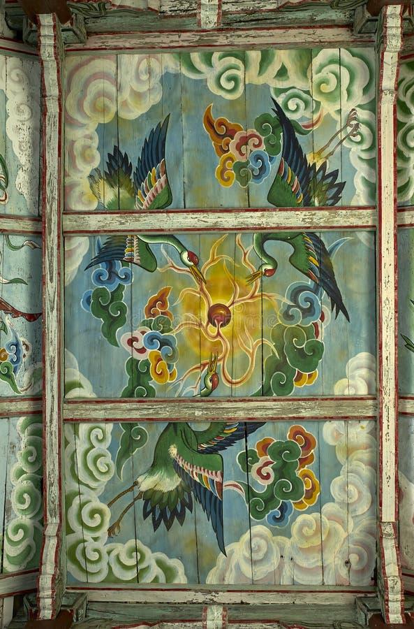 Крыша крася Северную Корею виска Pohyon стоковые изображения