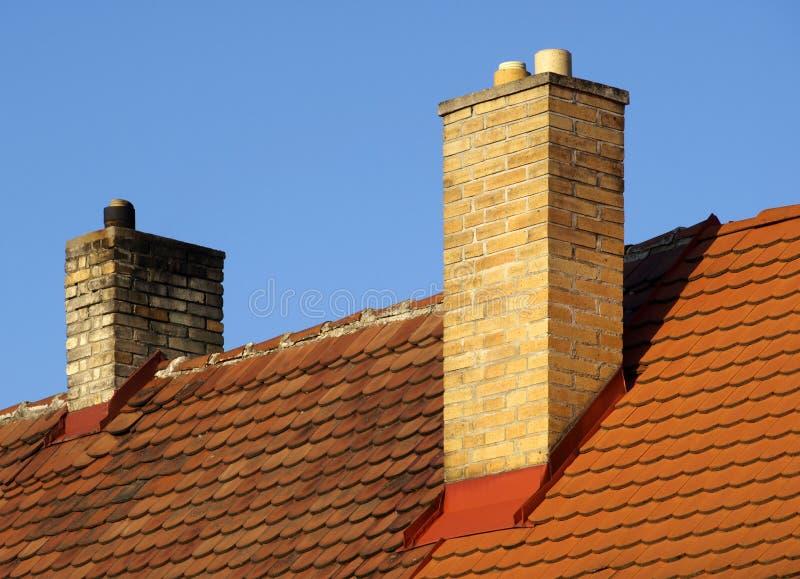 крыша печной трубы стоковые изображения
