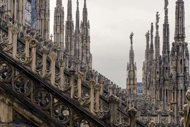 Крыша собора Duomo, милана стоковые изображения rf