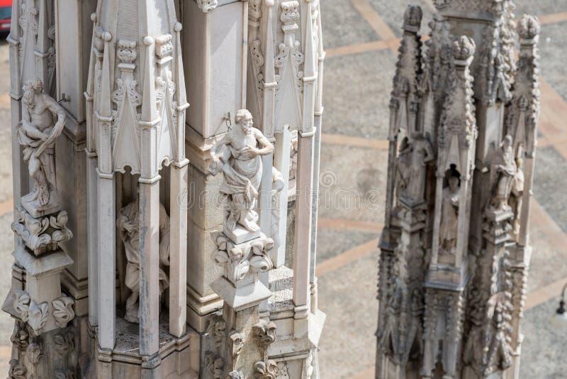 Крыша собора Duomo, милана стоковые изображения