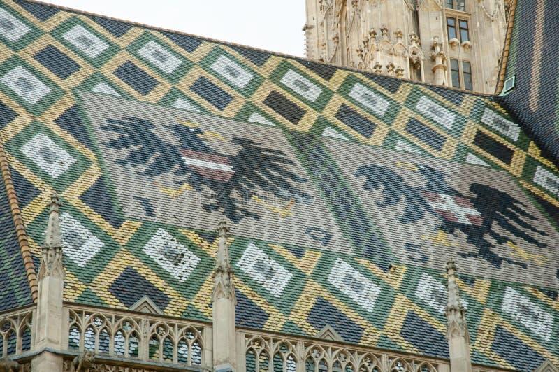Крыша собора St Stephen - вена - Австрия стоковые изображения