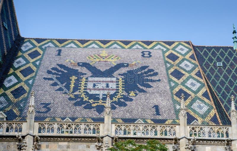 Крыша собора St Stephen, Вена стоковые фотографии rf