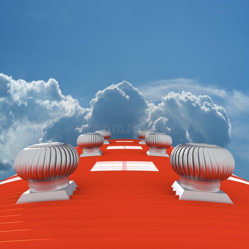 крыша 3d иллюстрация штока
