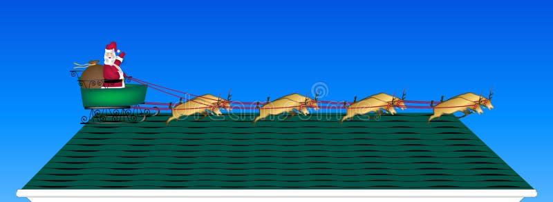 крыша santa бесплатная иллюстрация