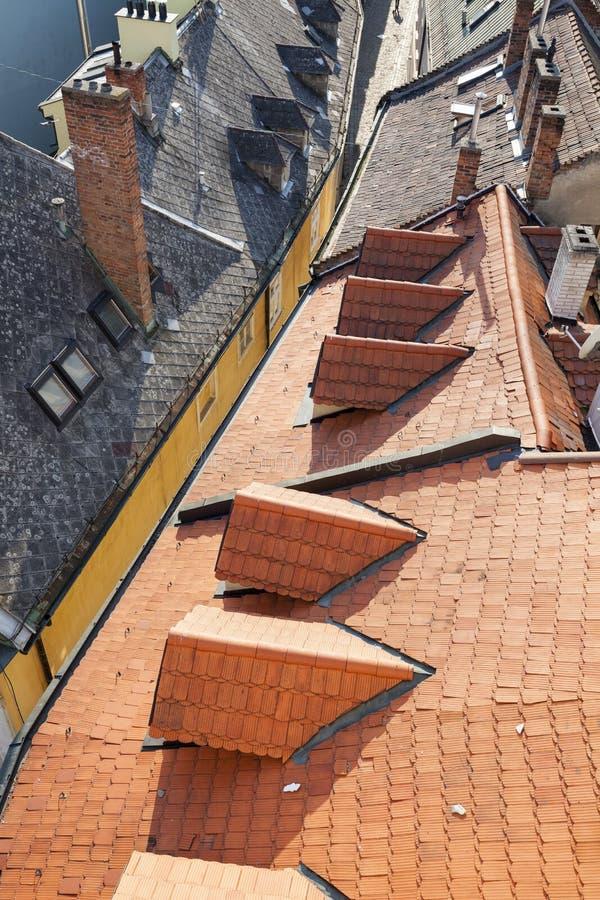 Крыши Братиславы стоковое изображение