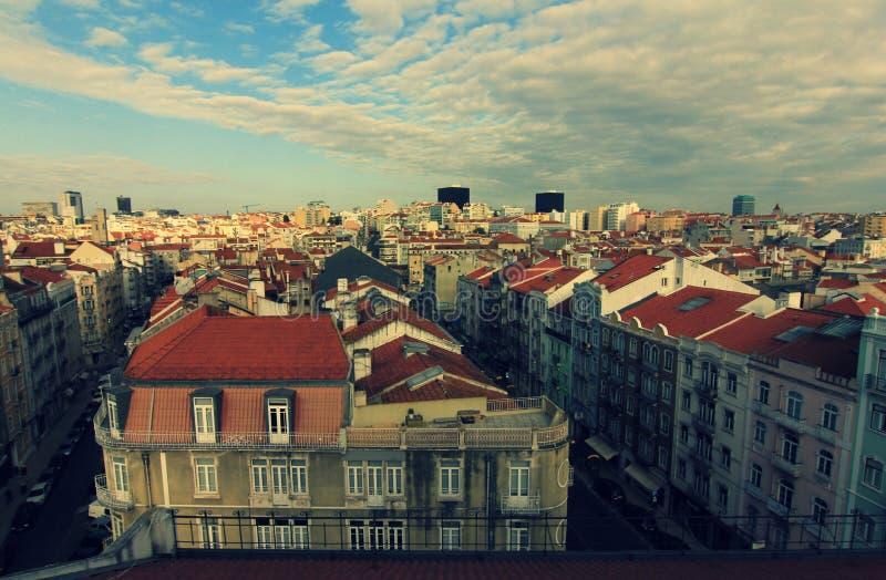 Крыши Лиссабона, Португалии (Лиссабон) стоковая фотография rf