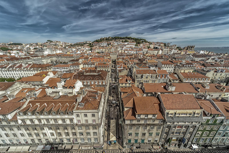 Крыши Лиссабона стоковые изображения