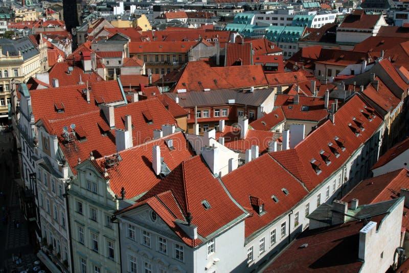 крыши республики prague praha столицы чехословакские стоковая фотография