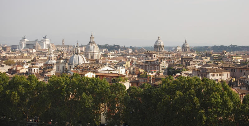 Крыши Рима стоковое изображение