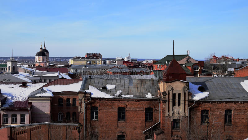 Крыши Томска стоковое фото rf