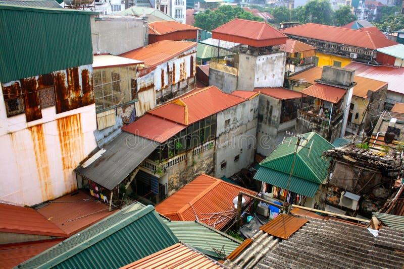 Крыши Ханоя стоковое изображение
