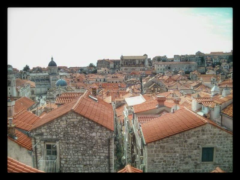 Крыши Хорватия Дубровника стоковые изображения rf