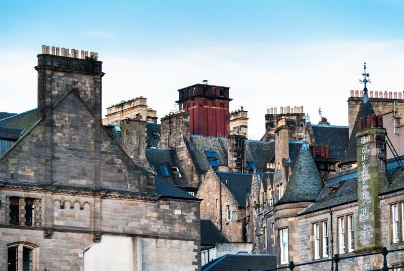 Крыши Эдинбурга стоковые изображения