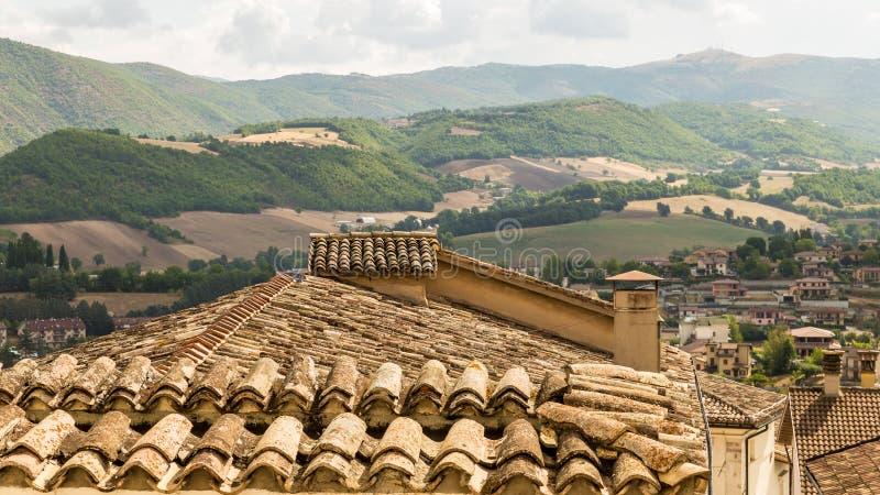 Крыши Assisi стоковое изображение rf