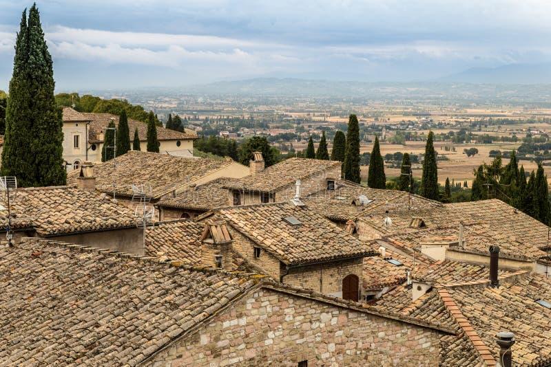 Крыши Assisi стоковые фотографии rf